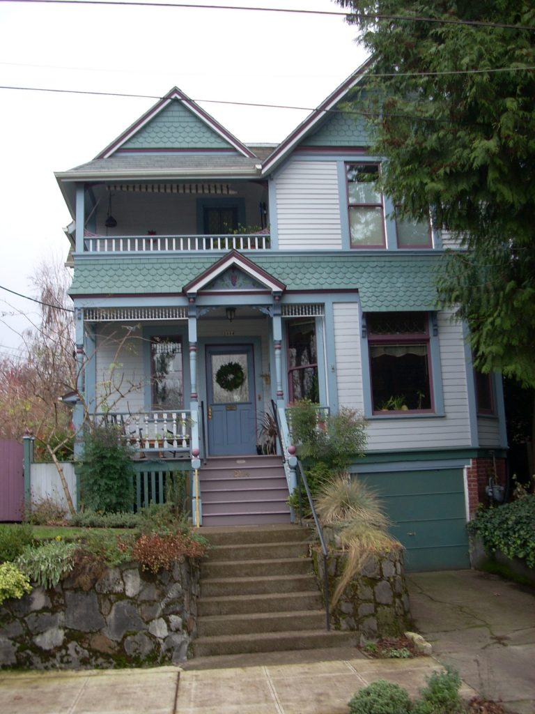 Queen Anne Victorian House with Many Colors of Paint
